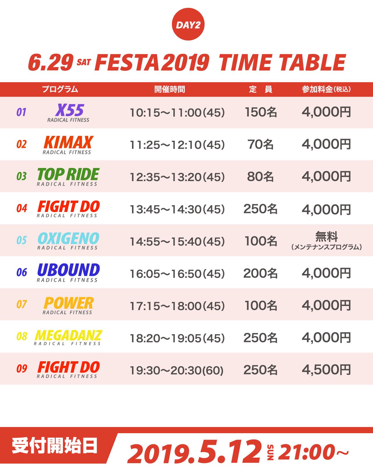 5.12 SATTIME TABLEfesta2019